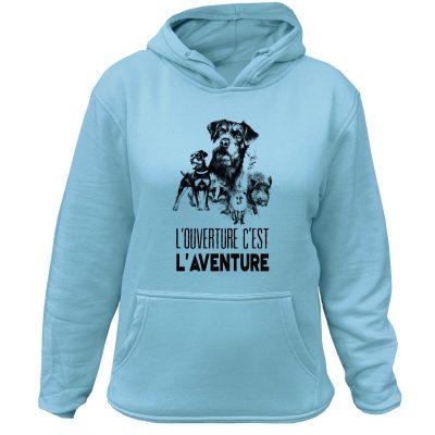 sweat-chasseresse-l-ouverture-c-est-l-aventure-jagd-terrier