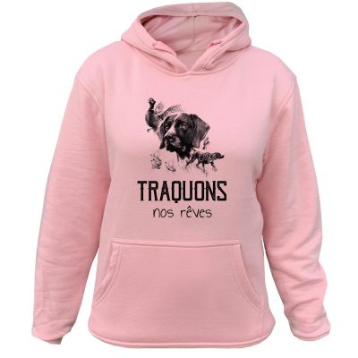 sweat-chasseresse-traquons-nos-reves-braque