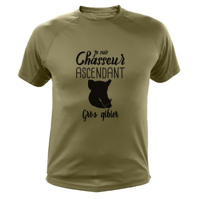 tshirt chasse - chasseur ascendant gros gibier