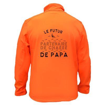 veste softshell - le futur partenenaire de chasse de papa
