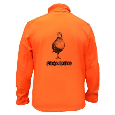 veste-de-chasse-softshell-orange-fluo-perdrix